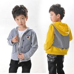 Lullaby - Kids Striped Panel Hooded Jacket