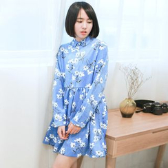 11.STREET - Long-Sleeve Floral Dress