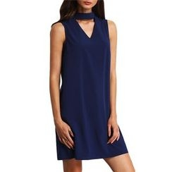 Hanni - Sleeveless Cutout Tie-Back Dress