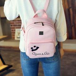 Tasche - Set : Smiley Faux Leather Backpack + Shoulder Bag + Wallet
