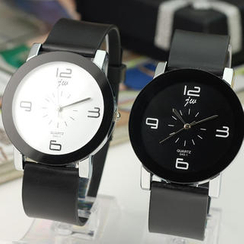 Free Shop - Contrast-Color Strap Watch