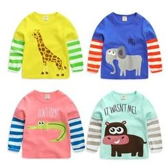 lalalove - Kids Animal Print Long-Sleeve T-Shirt