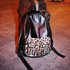 TAIPEI STAR - Leopard-Print Backpack