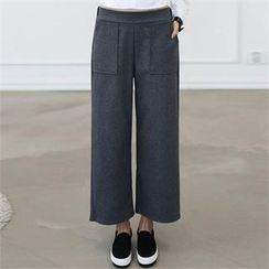 CHICFOX - Banded-Waist Wide-Leg Pants
