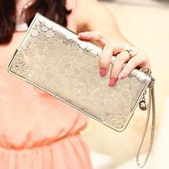 SUOAI - Stone Pattern Long Wallet