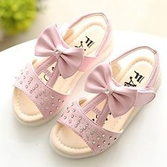Luco - Kids Bow Accent Sandals