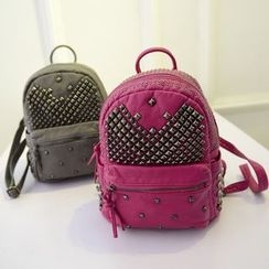Denyard - Faux-Leather Studded Backpack
