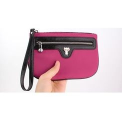 MILESI - Color-Block Mobile Pouch