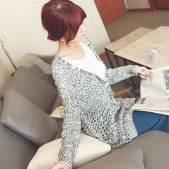 Tokyo Fashion - V-Neck Open-Knit Cardigan