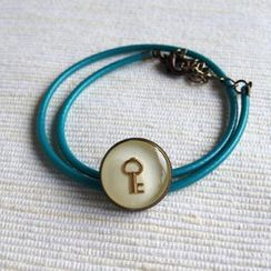 MyLittleThing - Green Key Double Bracelet