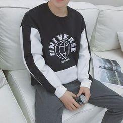 JORZ - Printed Two-Tone Sweatshirt