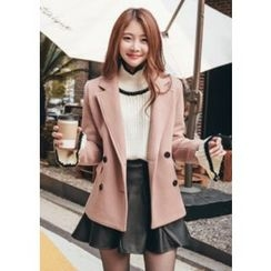 Chlo.D.Manon - Wool Blend Double-Breasted Blazer