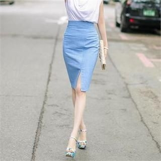 Closet 9 - Slit-Front Pencil Skirt