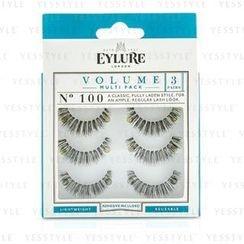 eylure - Volume False Lashes Multipack - 100 Black (Adhesive Included)