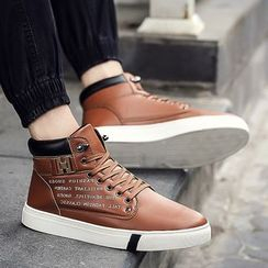 Araeo - Lettering High Top Sneakers