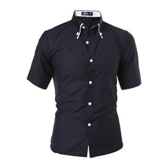 Hansel - Tipped Short Sleeve Shirt