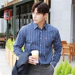 BYMONO - Pocket-Front Pinstripe Shirt