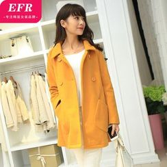 Eferu - Double-Breasted Woolen Coat