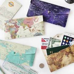 iswas - 'Willow Story' Series Map Long Passport Case