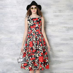 Flore - Sleeveless Floral Dress