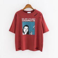 Sunny Day - Short-Sleeve Printed T-Shirt