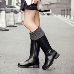 Pangmama - Buckled Mid-Calf Boots