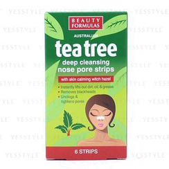 Beauty Formulas - Tea Tree Deep Cleansing Nose Pore Strips