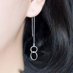 A'ROCH - Double Circle Threader Earrings