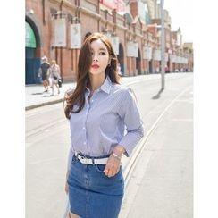 GUMZZI - Cotton Striped Shirt