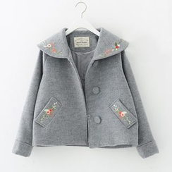 Meimei - Embroidered Knit Jacket