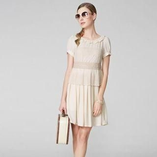 O.SA - Crochet-Trim Panel Chiffon Dress