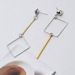 Wind Valley - Non Matching Bar Drop Earrings
