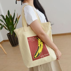 Bags 'n Sacks - Anchor Print Canvas Shopper Bag