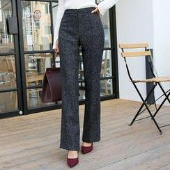 DABAGIRL - Mélange Boot-Cut Dress Pants