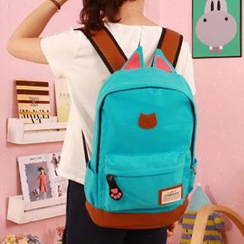 MooMoo Bags - Cat Ear Accent Canvas Backpack