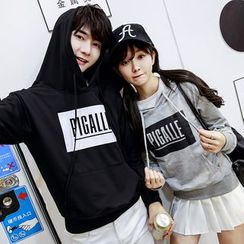 CASSY - Printed Hooded Couple Matching Pullover