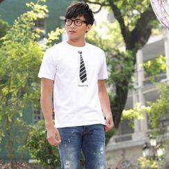 Porspor - 領帶印花 T 恤