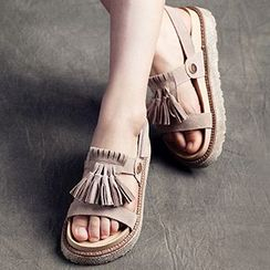 MIAOLV - Tasseled Platform Sandals