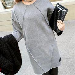 PIPPIN - Seam-Trim Mini Pullover Dress