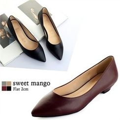 SWEET MANGO - Pointy-Toe Faux-Leather Flats