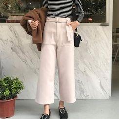 Dute - 純色寬腿長褲
