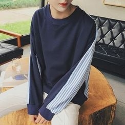 Troopers - Long-Sleeve Striped-Panel Top
