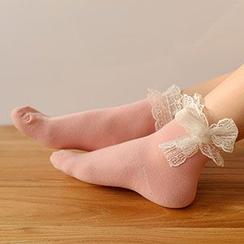 MEIA - Lace Trim Socks