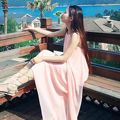 Sweet Dream - 挂脖雪纺沙滩长裙