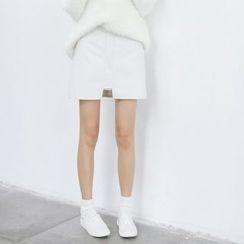 Porta - A-line Knit Skirt