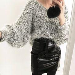 DISCOSALON - Shirred Pencil Skirt