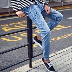 HANDA - 做旧牛仔裤