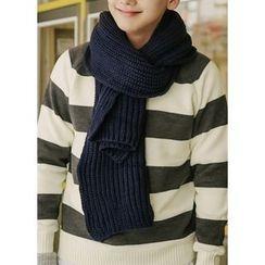 JOGUNSHOP - Wool Blend Chunky-Knit Scarf