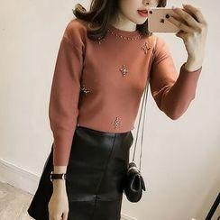 Little V - Beaded Sweater