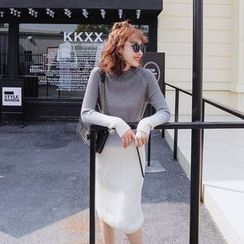 Tang House - Gradient Midi Knit Dress